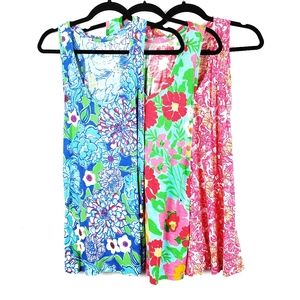 LILLY PULITZER 3pc Floral Tank Tops M
